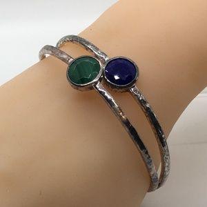 Ippolita 925 NephriteLapis Lazuli Rock Candy Bangl